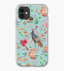 Xmas pattern by Maria Tiqwah iPhone Case