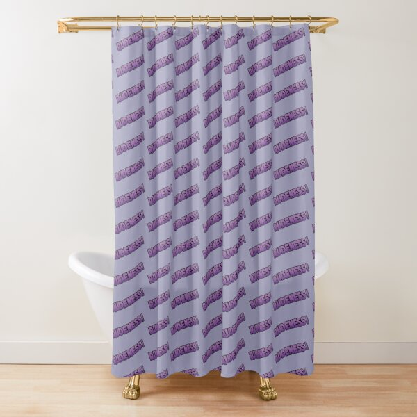 Rudeness Logo, v.2 Shower Curtain