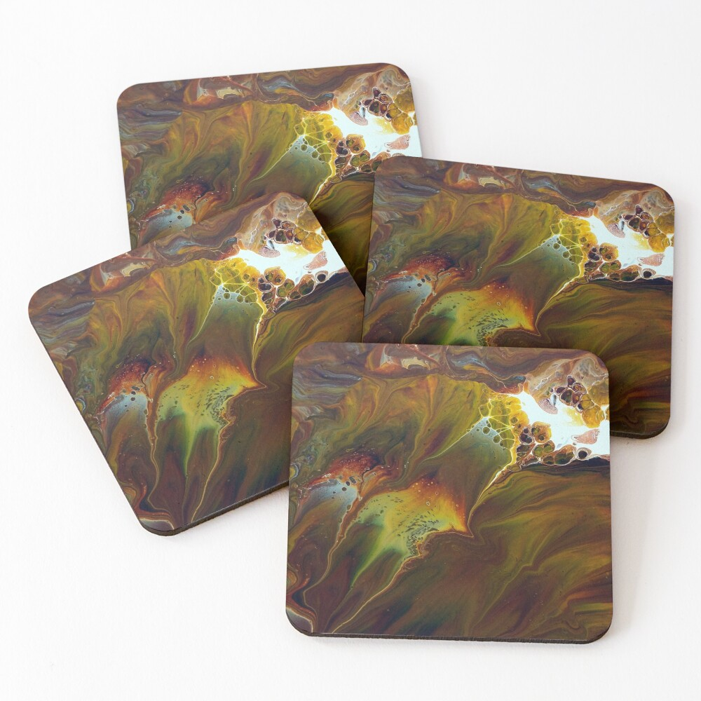 Pyroclastic Flow Coasters (Set of 4)