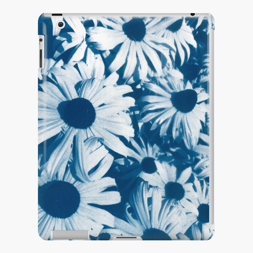 Coneflowers In Blue Cyanotype Print iPad Case & Skin