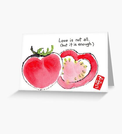 Tomato Hearts 1 Greeting Card