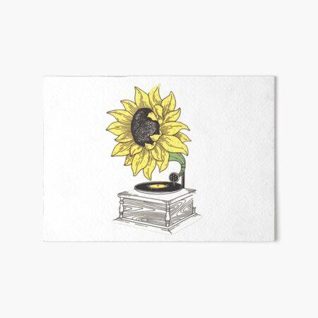 sunflower record Art Board Print