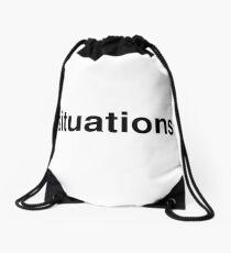 situations Drawstring Bag