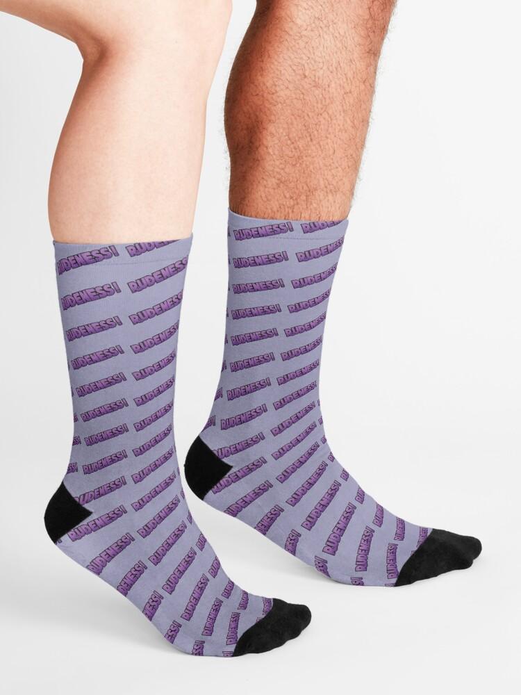 Alternate view of Rudeness Logo, v.2 Socks