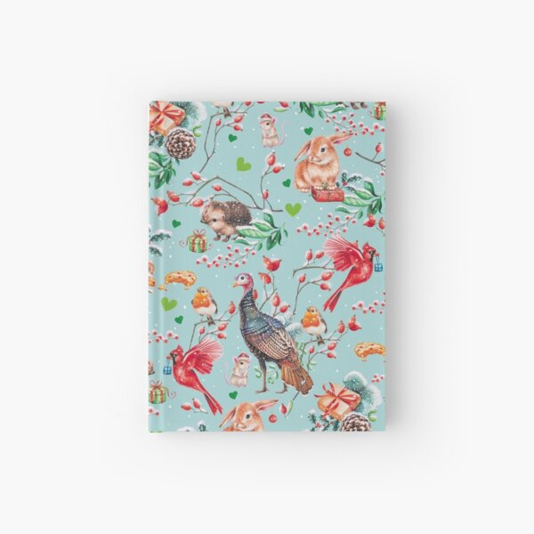 Xmas pattern by Maria Tiqwah Hardcover Journal