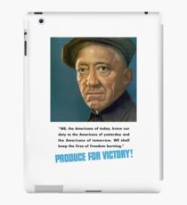 Produce For Victory -- WW2  iPad Case/Skin