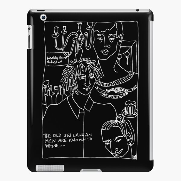 Cafe Series - The Gift (white Ink) iPad Snap Case
