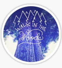 Camping nature hipster tumblr typography wanderlust photo Sticker