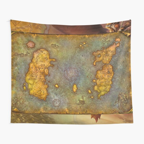 WoW Classic Map Poster Tapestry Tapestry