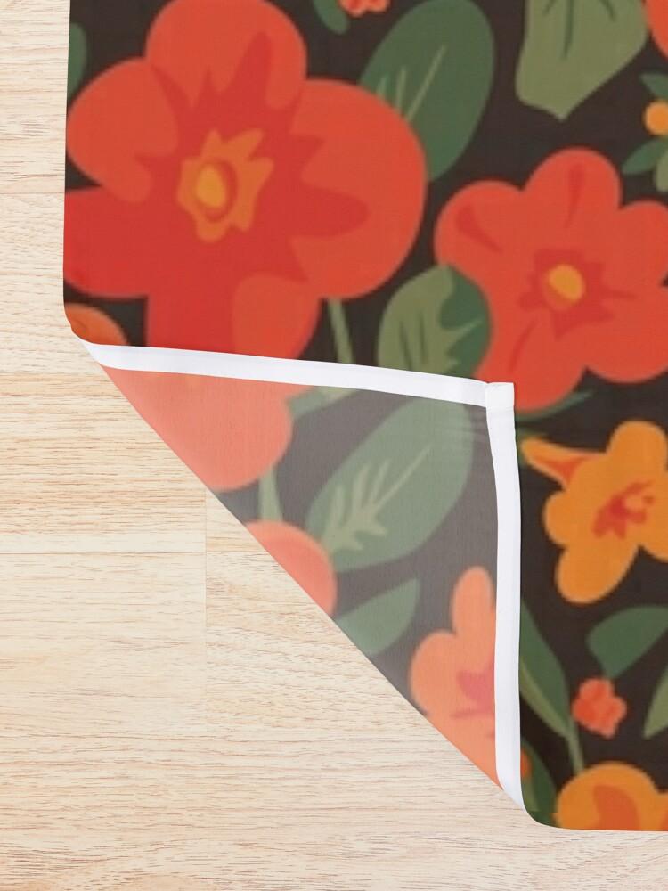 Alternate view of Marmalade Bush. Streptosolen jamesonii Pattern Shower Curtain