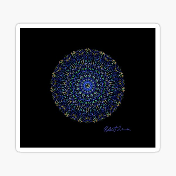 Blue Healing mandala 1002 Sticker