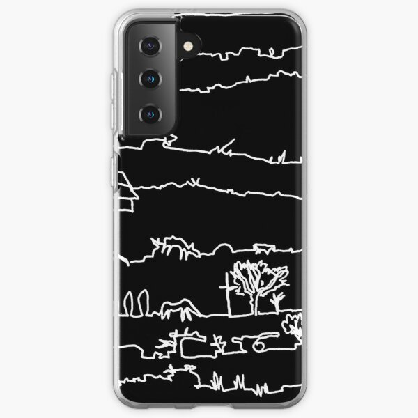 Travelling Series - Mesmerising Monotony (White Ink) Samsung Galaxy Soft Case
