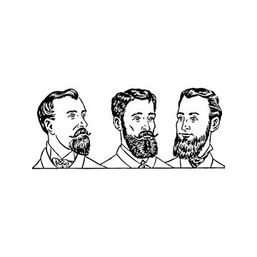 Vintage Men's Beards by SuperPayce