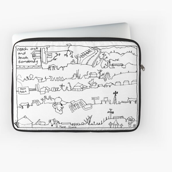 Travelling Series - Long Roads of Intimacy (Black Ink) Laptop Sleeve