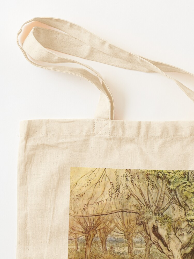 Alternate view of Rat and Mole Have a Picnic - The Wind in the Willows - Arthur Rackham Tote Bag