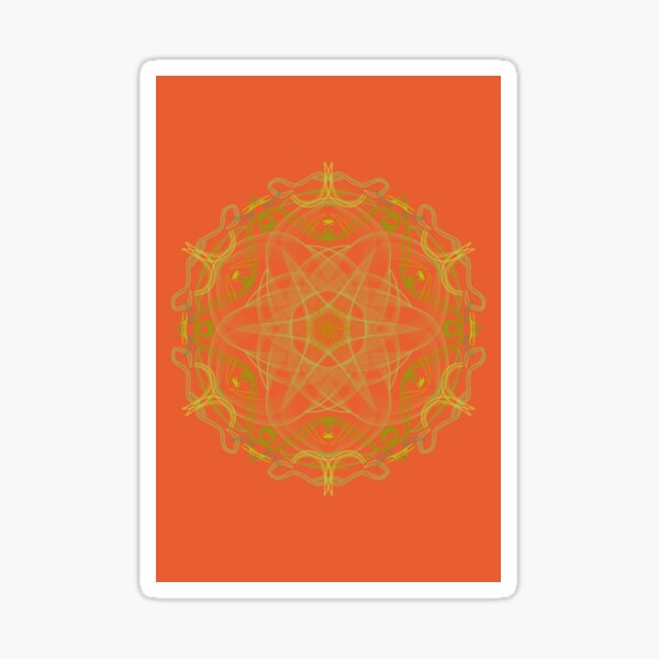 Orange healing mandala 3001 Sticker
