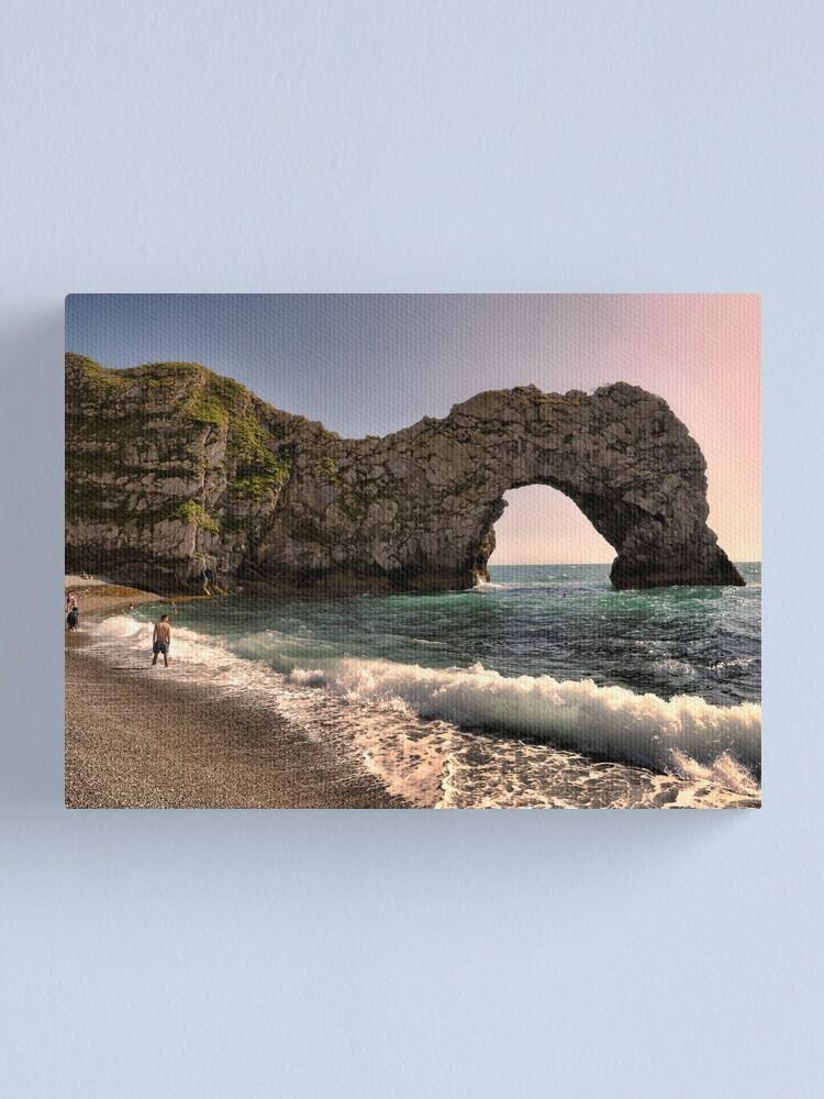 Alternate view of Evening urdle Door At Dorset Canvas Print