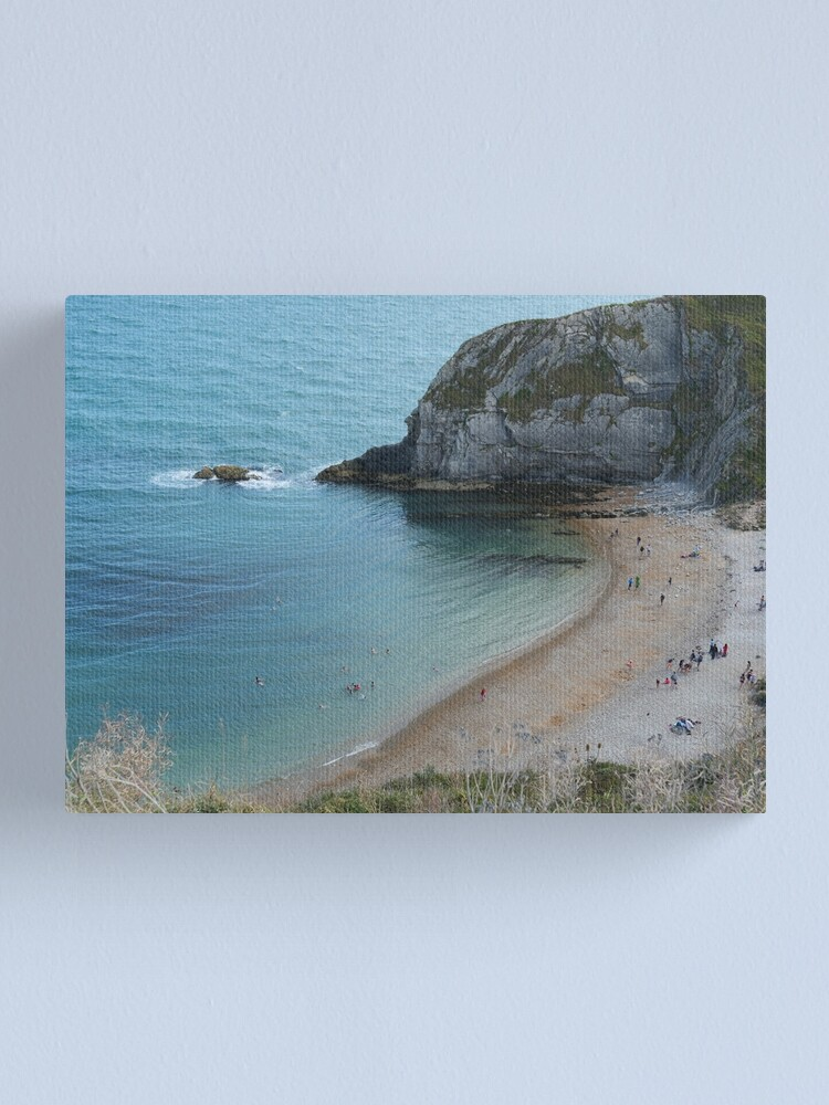 Alternate view of Swimming at Lulworth Cove Near Durdle Door Canvas Print
