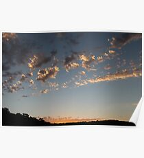 Delicate Sunset in Albany, Western Australia Poster