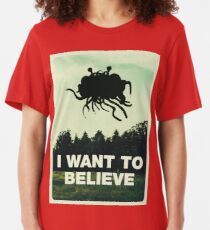 Flying Spaghetti Believing Slim Fit T-Shirt