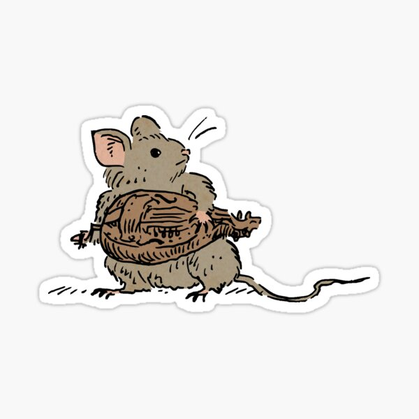 Hurdy Gurdy mouse Sticker