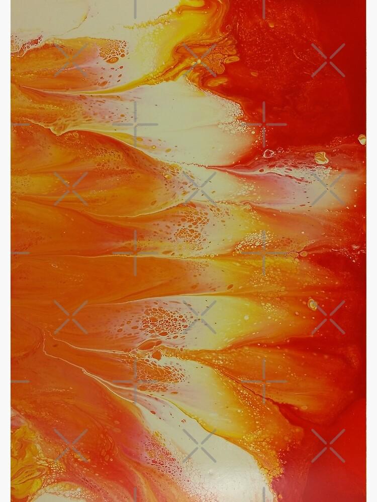 Campfire: fluid acrylic pour art by kerravonsen