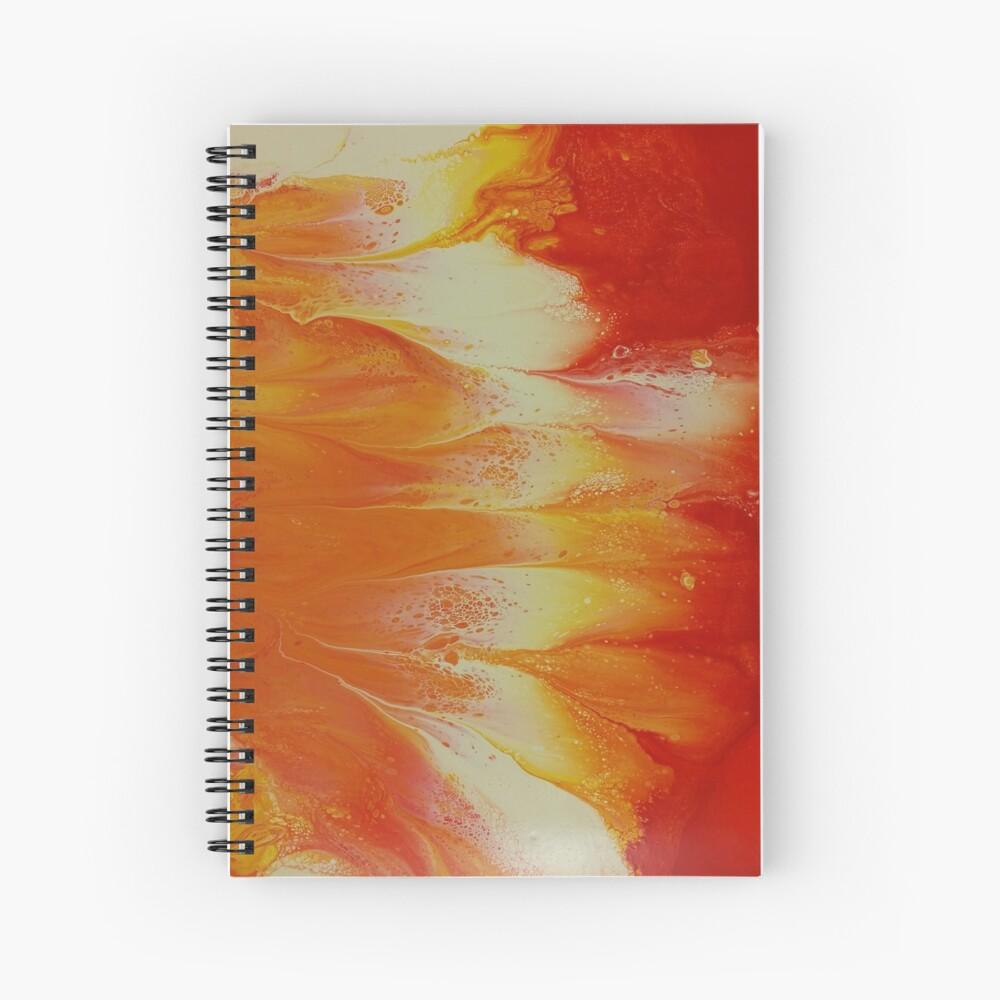 Campfire: fluid acrylic pour art Spiral Notebook
