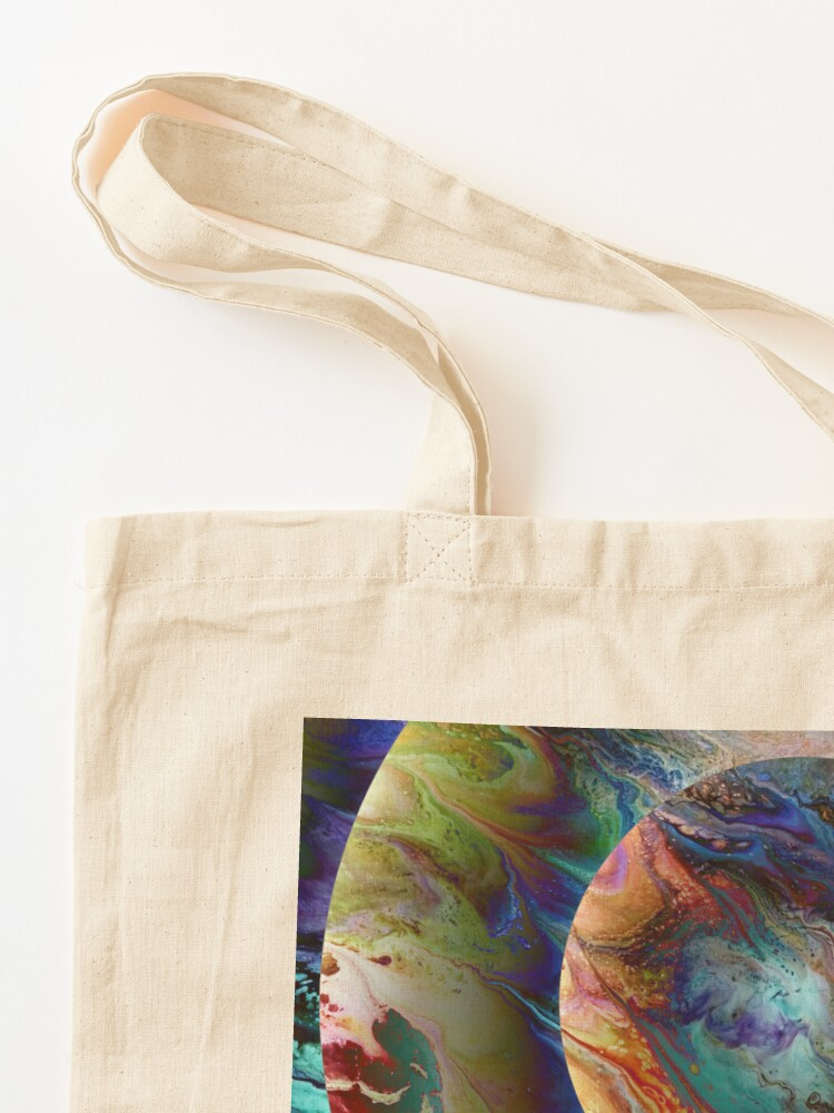 Alternate view of Conjunction: planet art Tote Bag