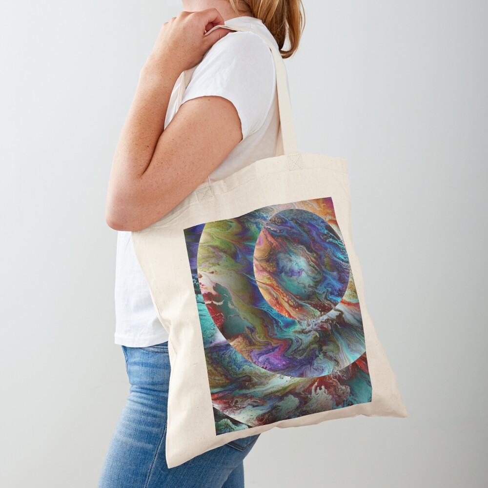 Conjunction: planet art Tote Bag