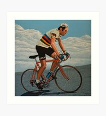 Eddy Merckx painting Art Print