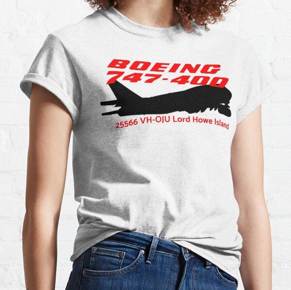 Boeing 747-400 25566 VH-OJU (Black)  Classic T-Shirt