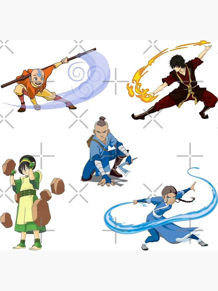 Team Avatar Gaang sticker set by AndreSchilder
