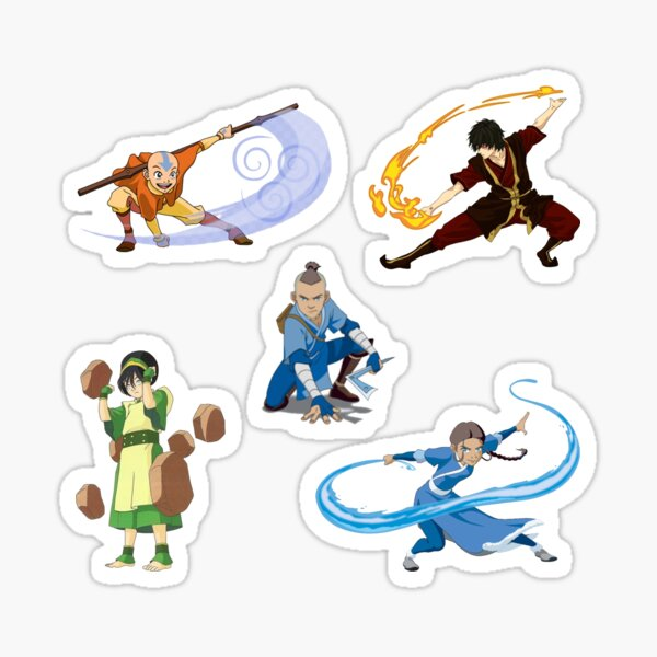 Team Avatar Gaang sticker set Sticker