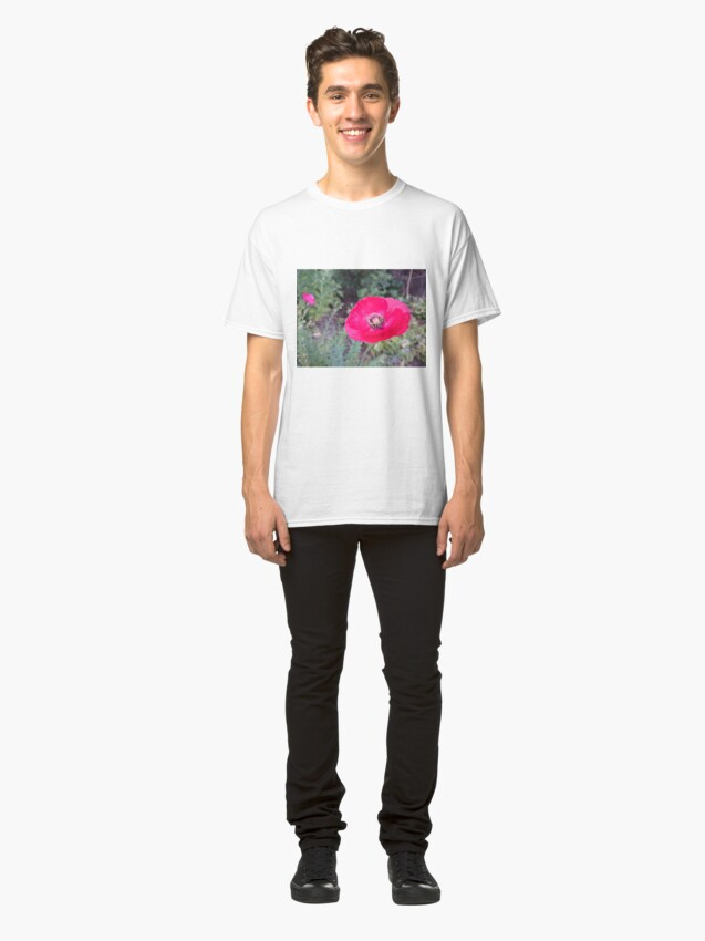 Alternative Ansicht von Roter Seidenmohn Classic T-Shirt