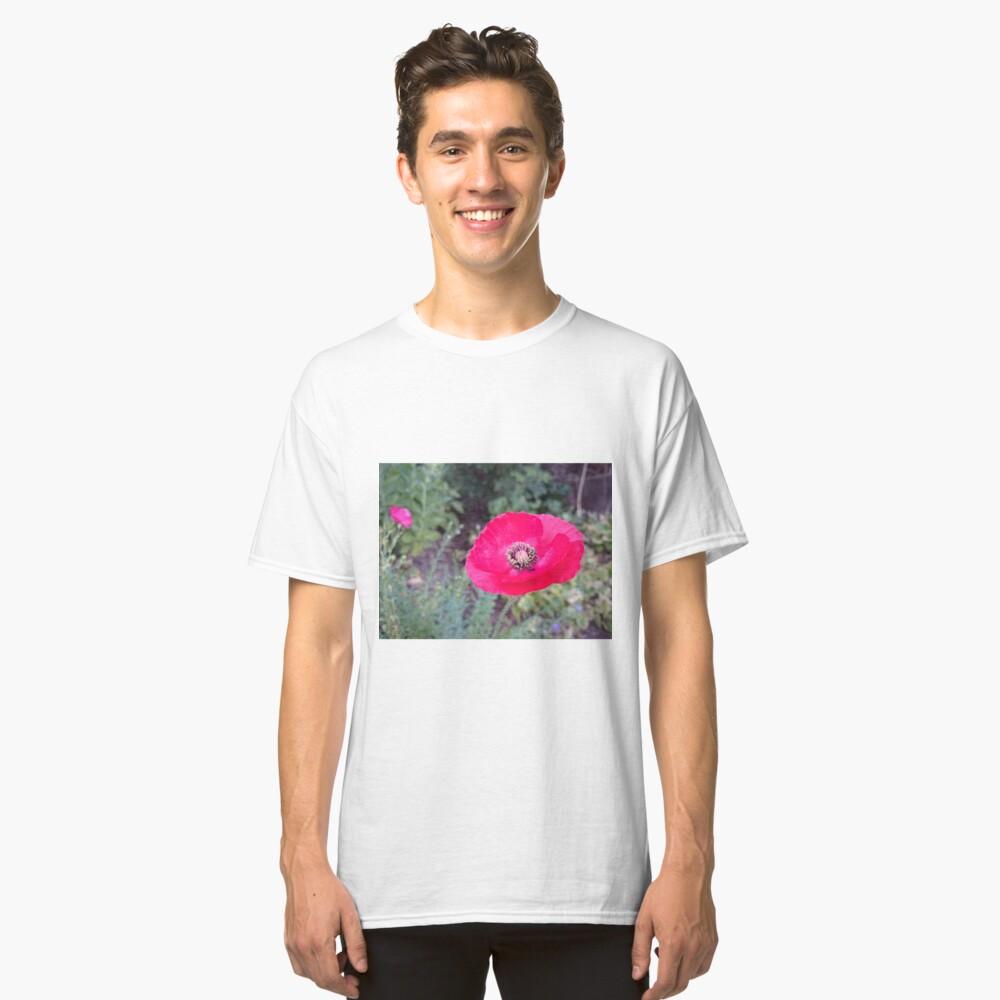 Roter Seidenmohn Classic T-Shirt