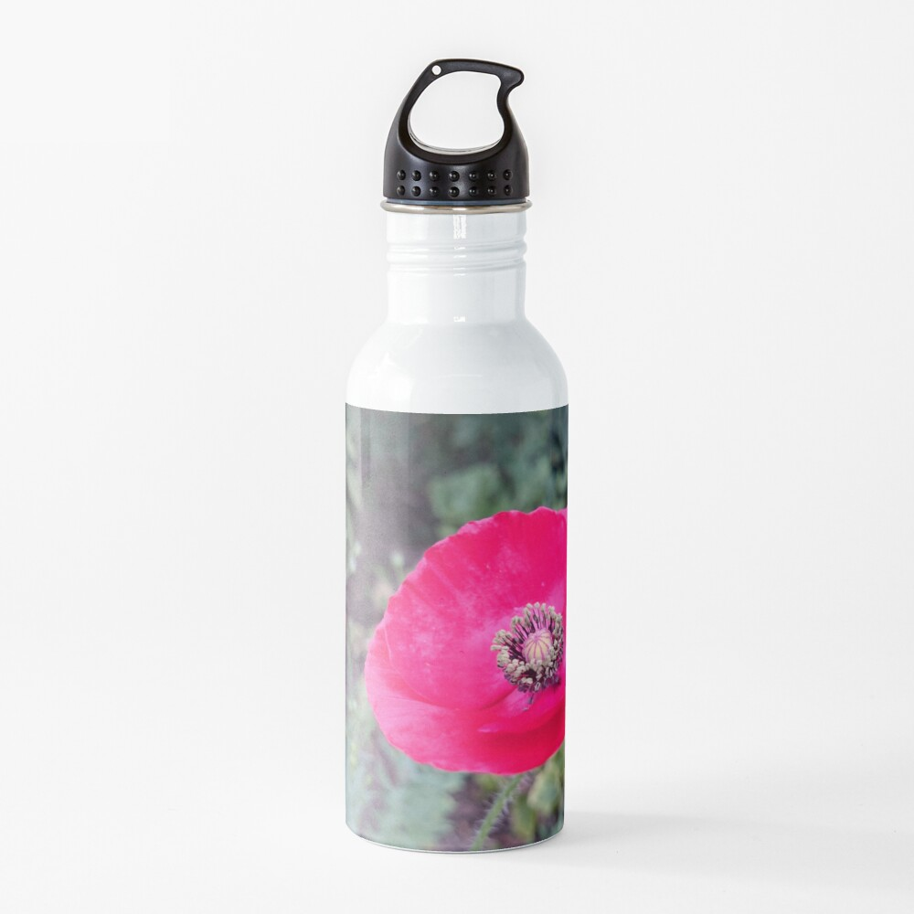 Roter Seidenmohn Trinkflasche