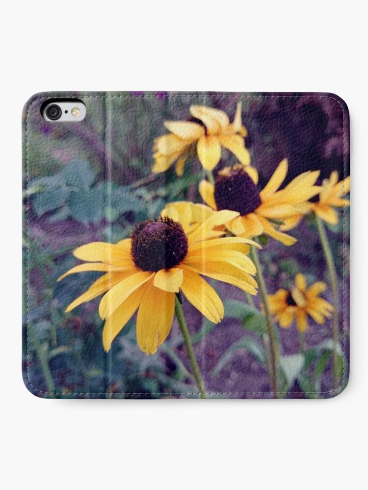 Alternative Ansicht von Gelber Sonnenhut iPhone Flip-Case