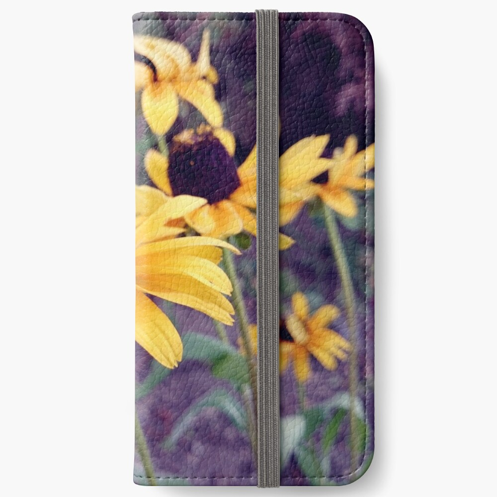 Gelber Sonnenhut iPhone Flip-Case