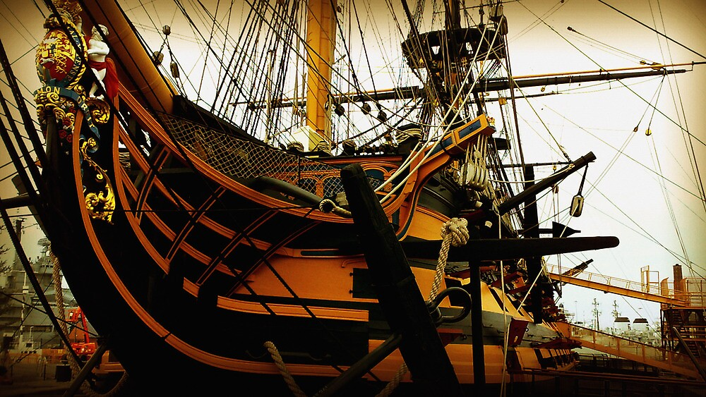 HMS Victory by Chris Cardwell
