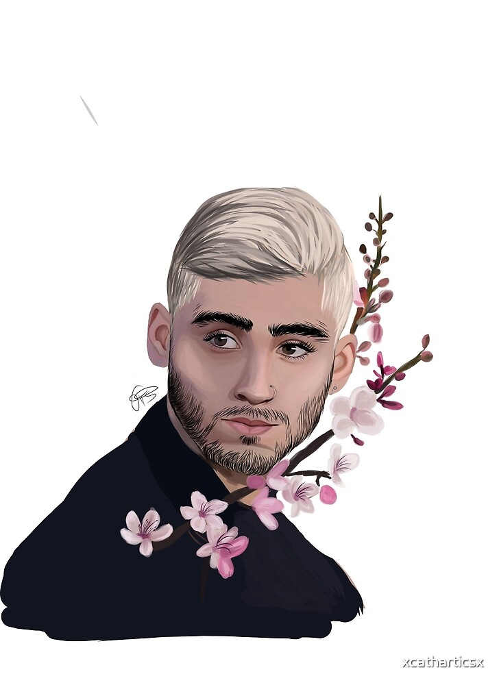 Zayn-cherry blossoms  by xcatharticsx