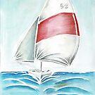 Sailing  - red spinnaker by TrueInsightsNZ