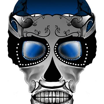 Dia De Los Muertos, Savage Blue by MatthewRoss
