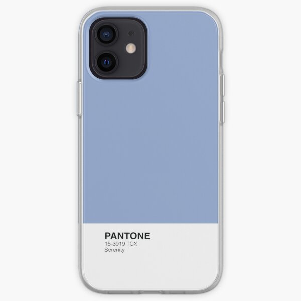 [High resolution 1000PPI] Pantone Phone Case - Serenity iPhone Soft Case