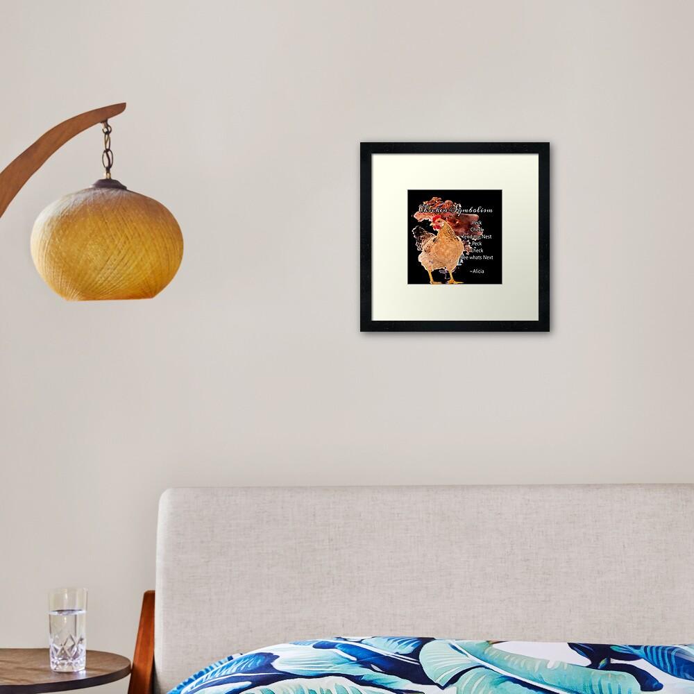 chicken Symbolism Totem Guide Framed Art Print