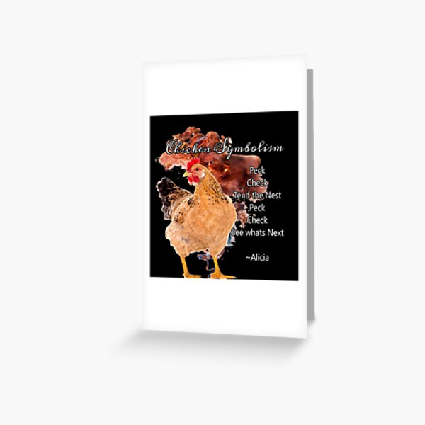 chicken Symbolism Totem Guide Greeting Card
