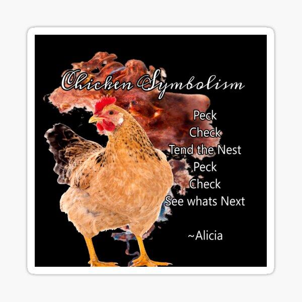 chicken Symbolism Totem Guide Sticker