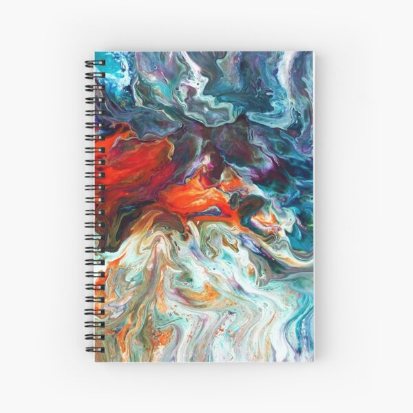 Fire And Water Spiral Notebook