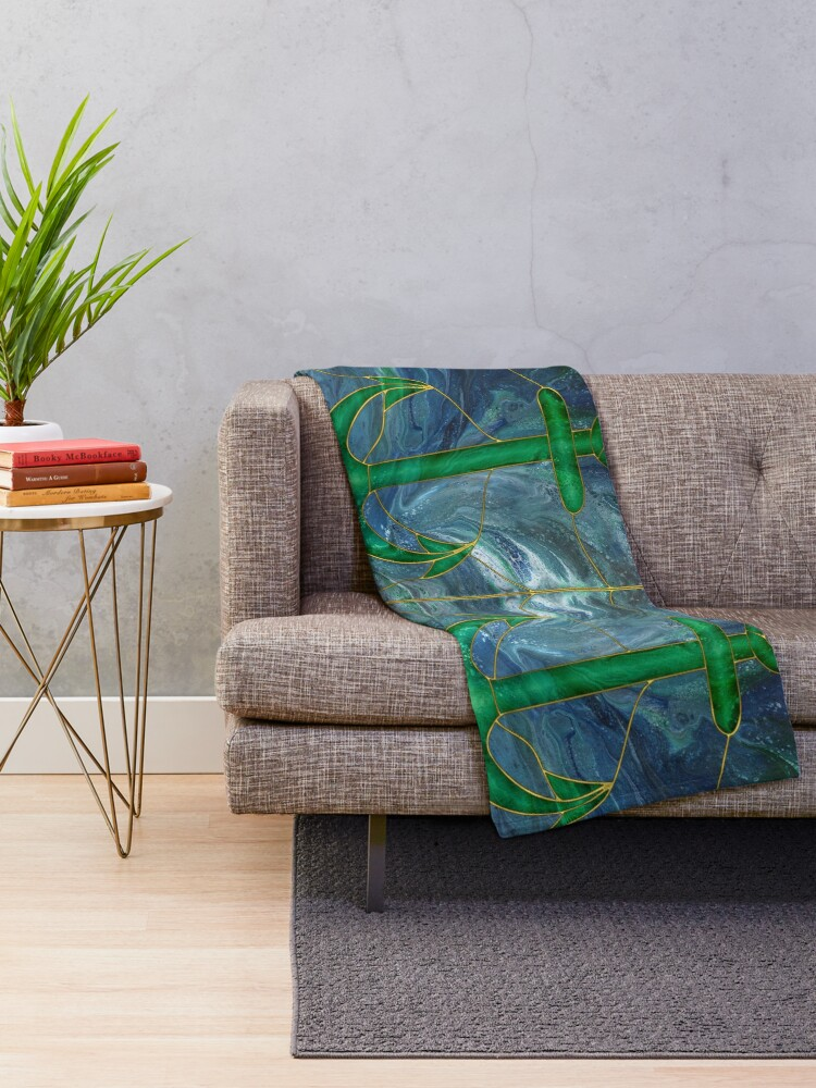 Alternate view of Glass Anchor Throw Blanket