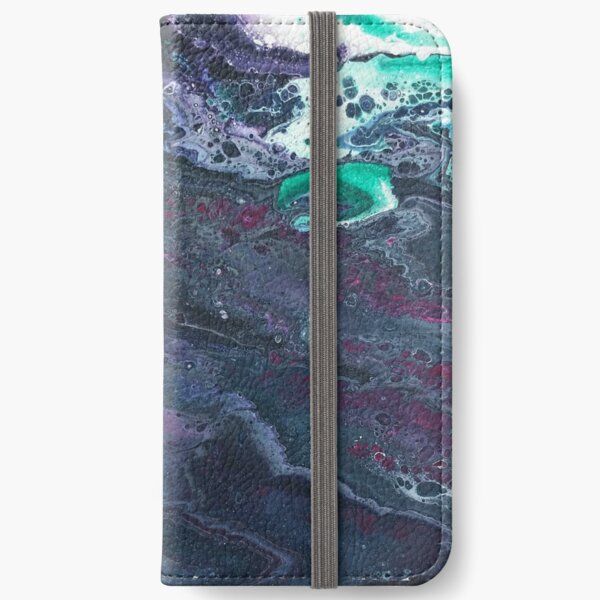 Skipping Between Raindrops iPhone Wallet