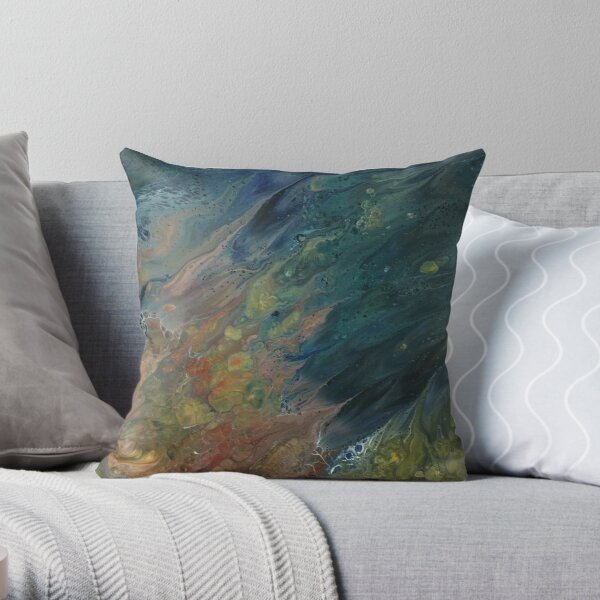The River Dreams of Spring Throw Pillow